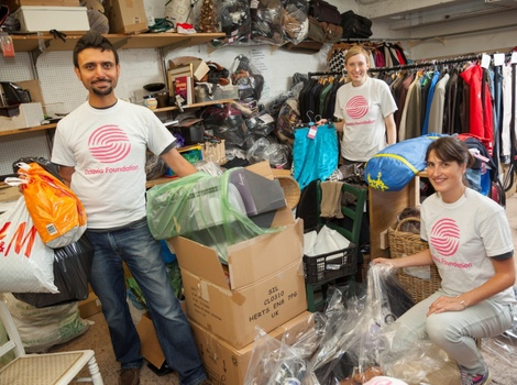 Staff from WME Entertainment volunteer in our Queensway charity shop