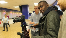 Young people planning their first documentary filming session at Loftus Road Stadium