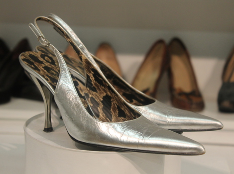 Dolce & Gabbanna silver point heels, £64 at Brompton Road