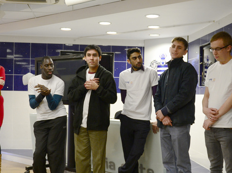 Young people launch the film at QPR